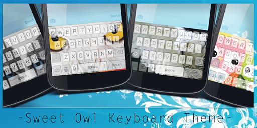 Sweet Owl Keyboard Theme