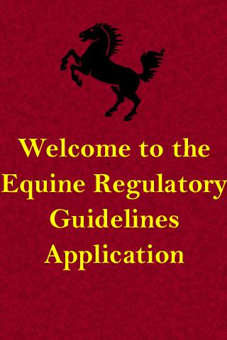 EQUINE REGULATORY GUIDELINES