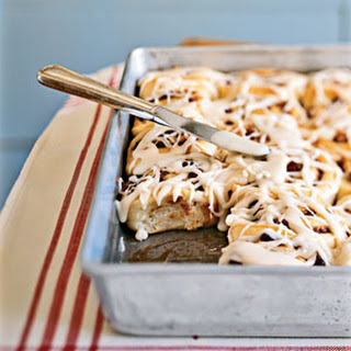Cinnamon-Date-Pecan Rolls with Maple Glaze