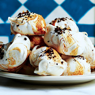 Hazelnut Butter and Coffee Meringues