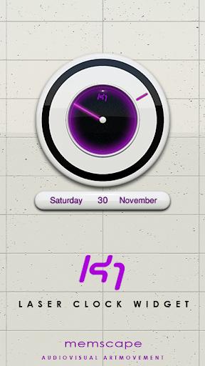 玩個人化App|K1 Laser Clock Widget免費|APP試玩