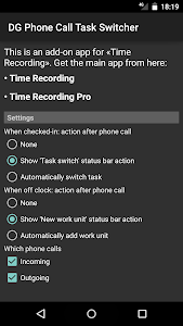 DG Phone Call Task Switcher – Phone Call Task Switcher for Time
