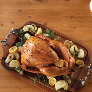 Roast Turkey with Sage, Onions & Red Wine Gravy