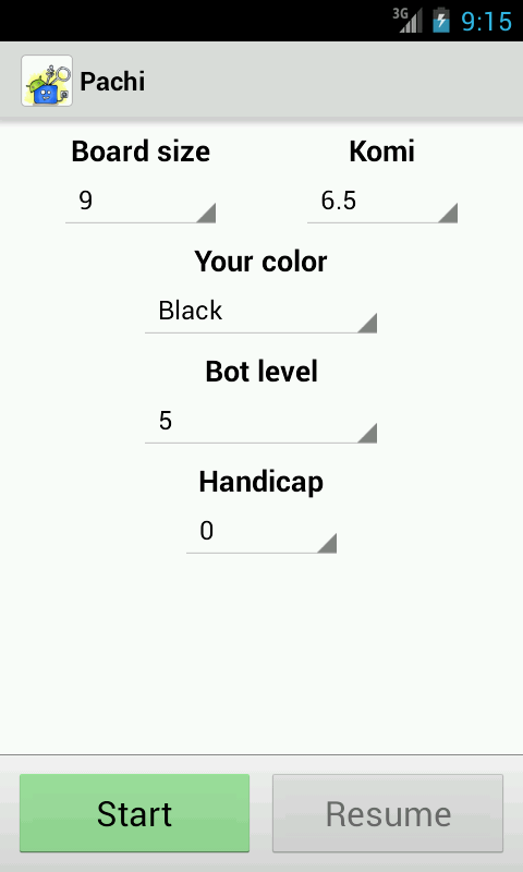 Pachi for Android (Beta)- screenshot