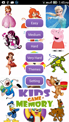 【免費紙牌App】Cartoons Memory Game for Kids-APP點子
