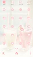 Screenshot of strawberry vanilla dodol theme