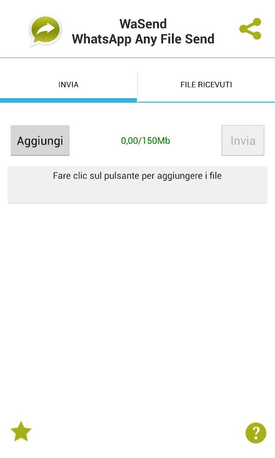 WaSend: Inviare file WhatsApp - screenshot
