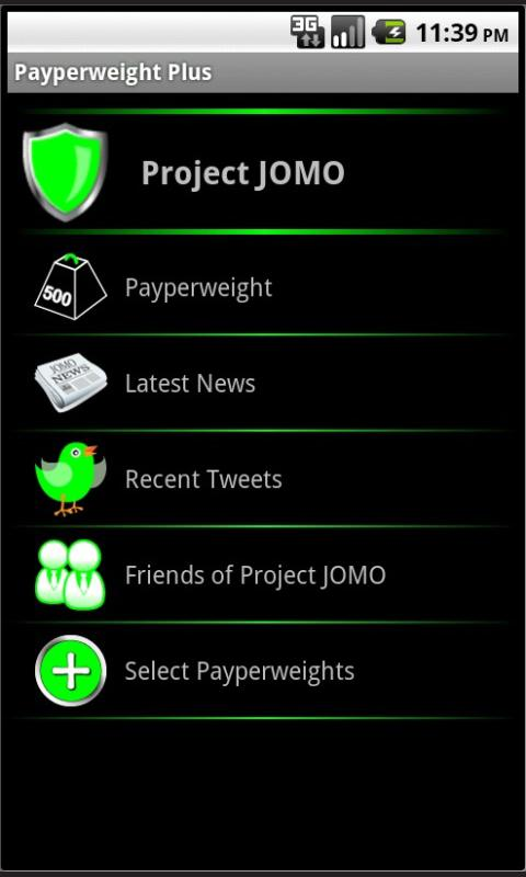 Project JOMO Payperweight Plus - screenshot
