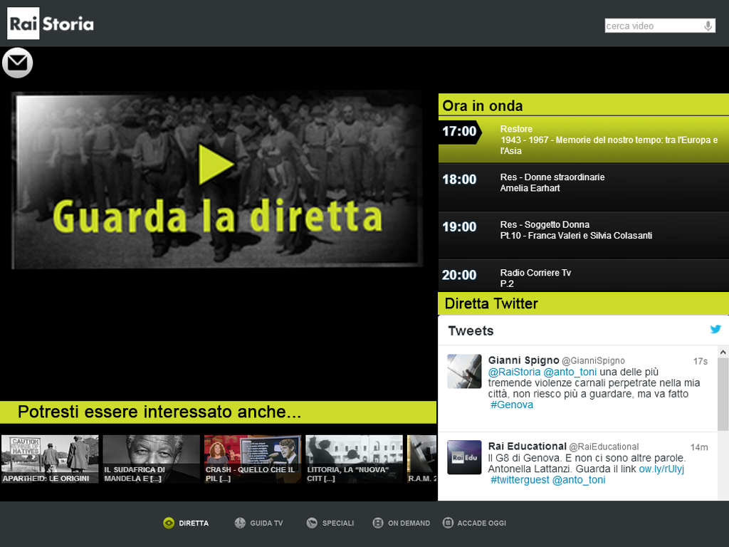 Rai Storia- screenshot