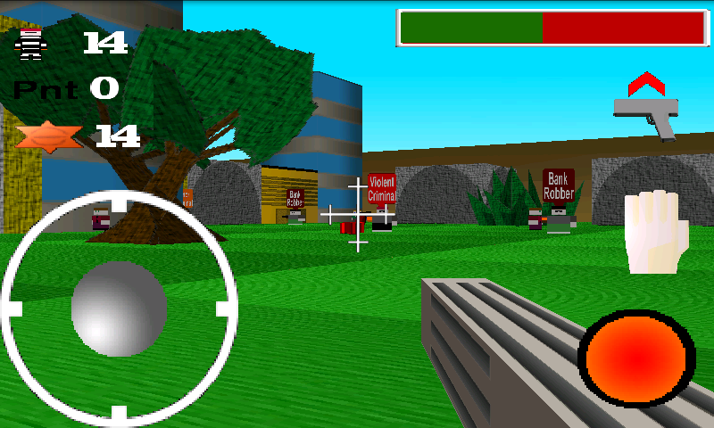 Quadroville 3D FPS - Free- screenshot