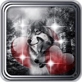 Wolf Love Heart Live Wallpaper