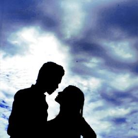by Posh Art - People Couples ( #poshart #challenge #shiluette, silhouette )