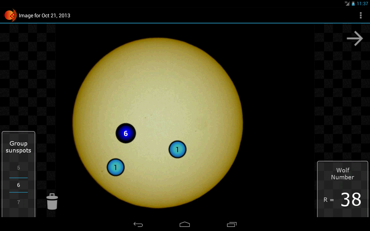 GLORIA Solar Activity - screenshot