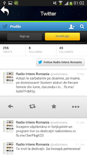 Radio Intens Romania- screenshot thumbnail