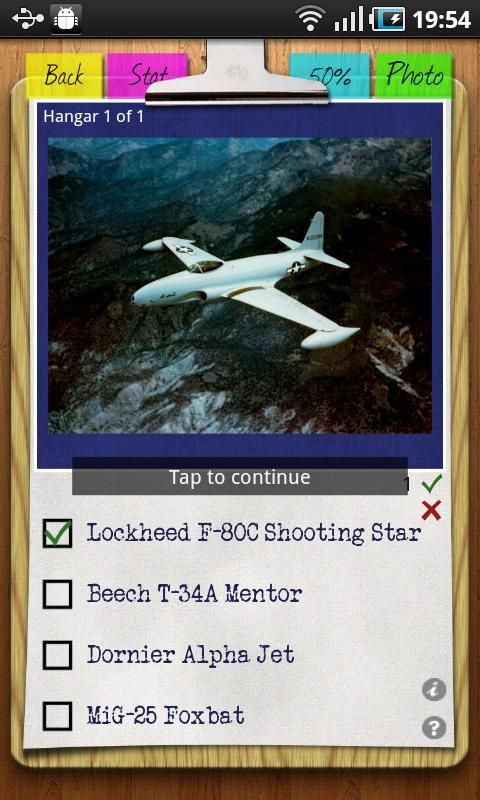 Aircraft Recognition Quiz- screenshot