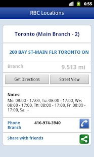 RBC ATM and Branch Locations - screenshot thumbnail
