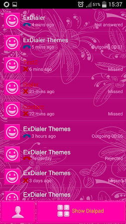 Pink Glow Dialer Theme 1.9.5 screenshot 1166857
