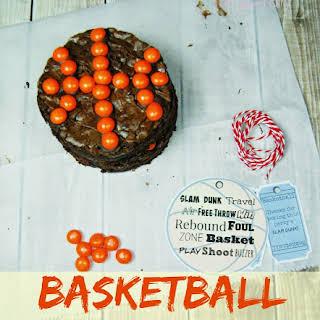 Basketball Brownie Cookies.
