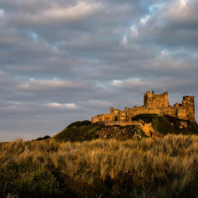 Evening Glow by Nicole Williams - Novices Only Landscapes ( bamburgh castle coast sand-dunes )