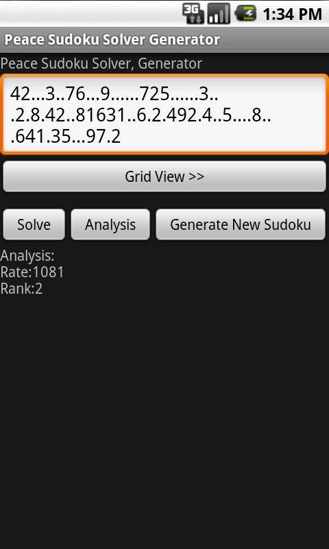 Sudoku Solver & Generator- screenshot