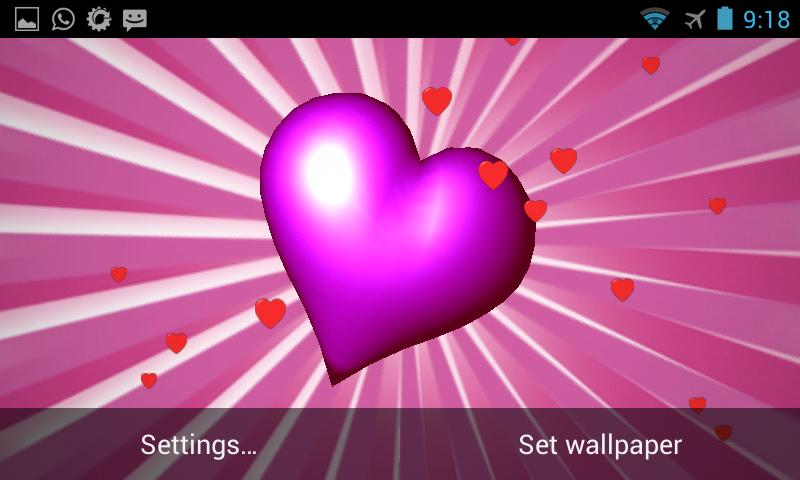 Heart 3D Live Wallpaper- screenshot