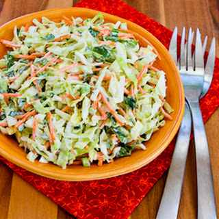 Moroccan Cabbage Slaw with Carrots, Cumin, Lemon, and Mint.