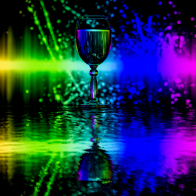 Splashing by Fahad Iqbal - Abstract Patterns ( abstract, water, reflection, creative, splash, glass, refraction )
