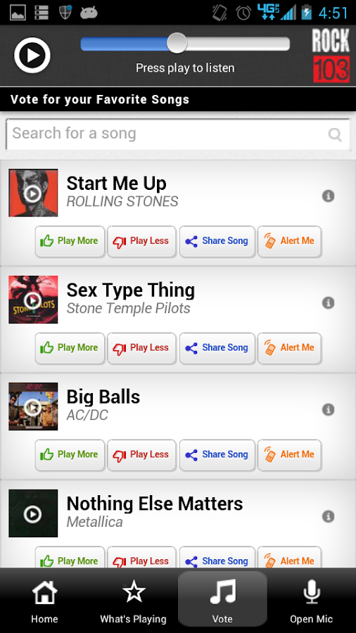 Rock 103, Tulsa's Classic Rock - screenshot