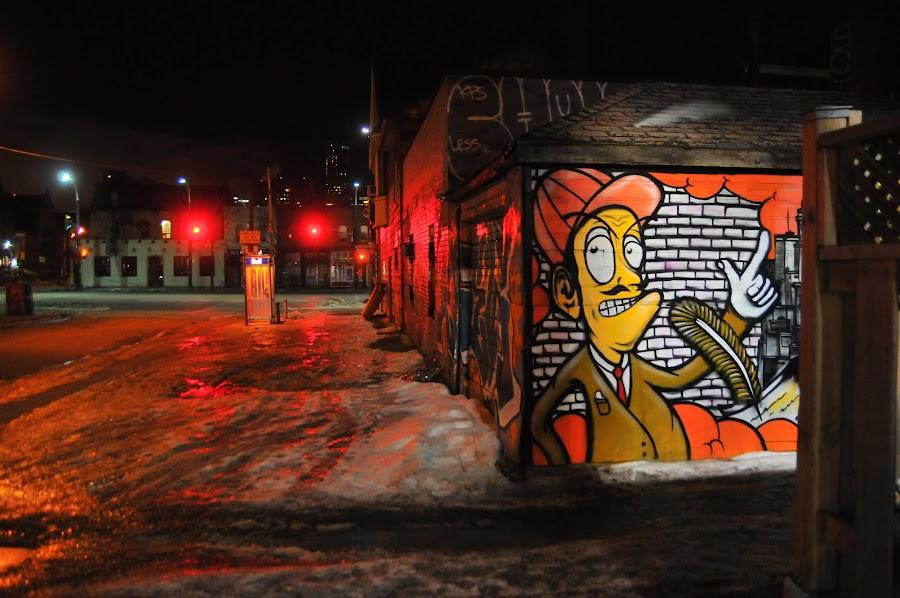 Chinatown corner in red by David Chu - City,  Street & Park  Neighborhoods ( @go4david @toronto @david @chu @chinatown,  )