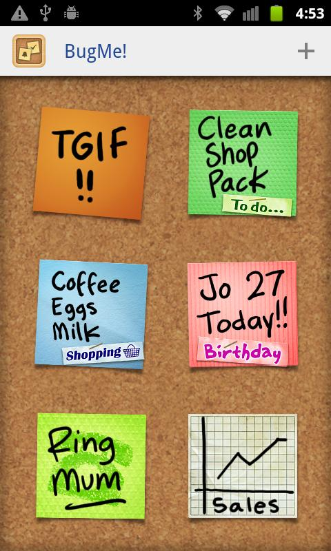 BugMe! Sticky Notes - screenshot