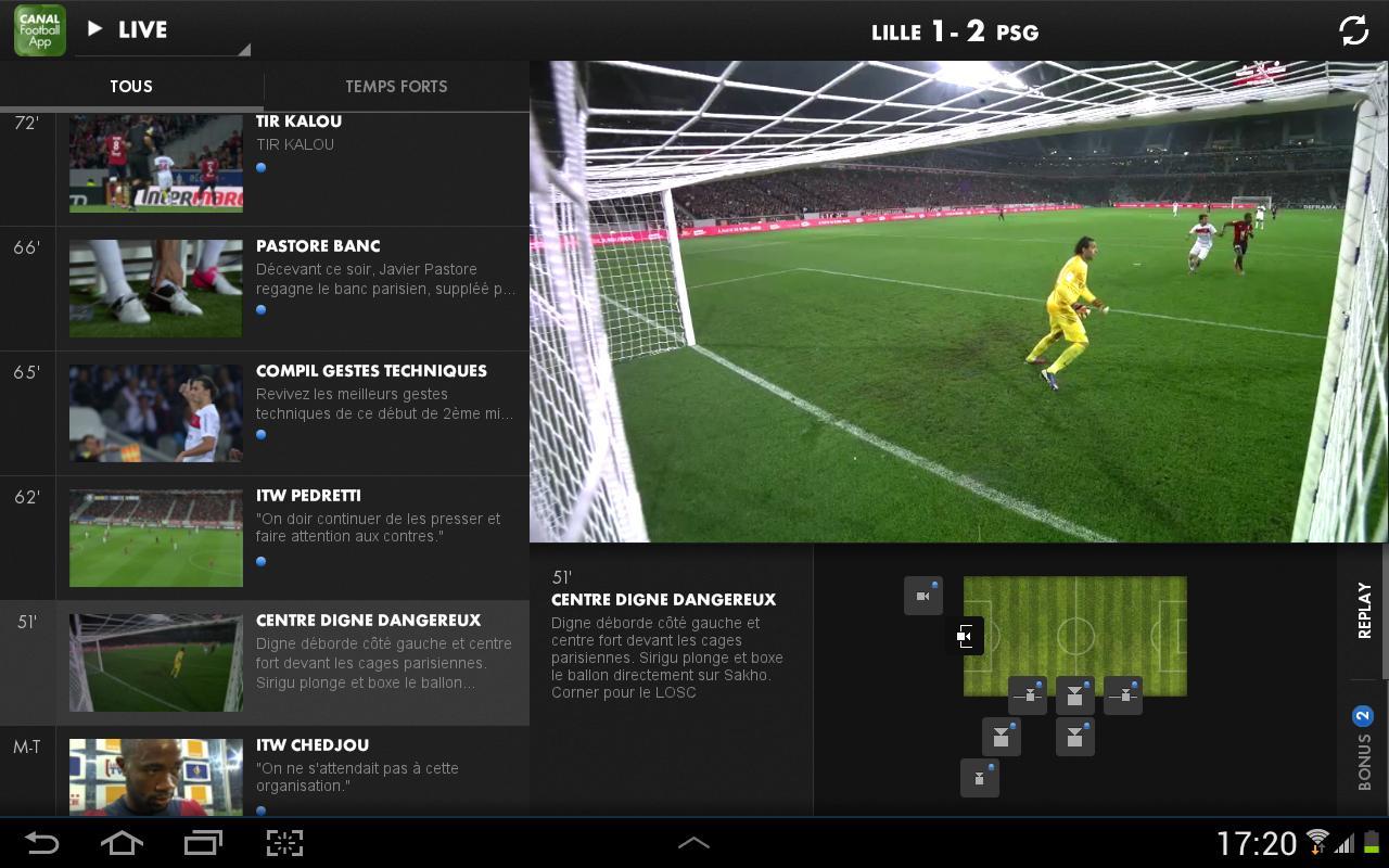 CANAL FOOTBALL APP- screenshot