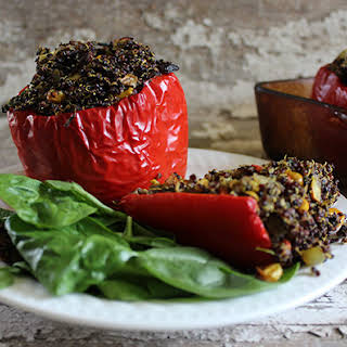 Quinoa Stuffed Red Peppers.