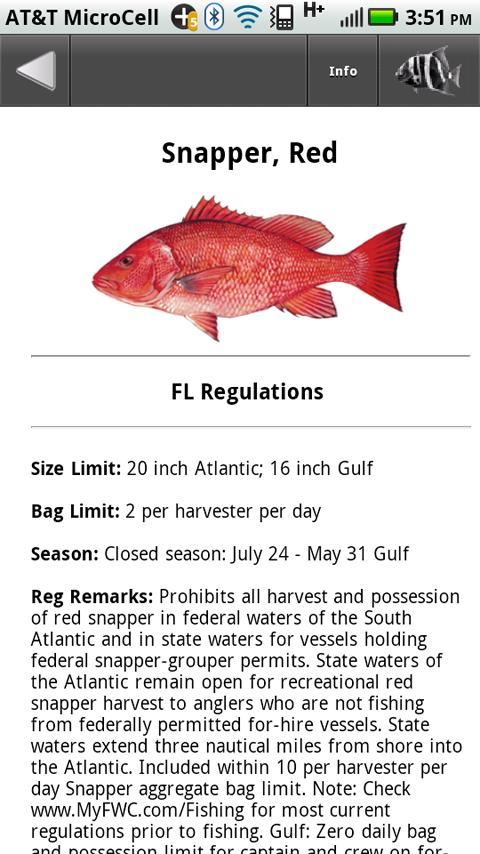 Fl sw fishing regulations android apps on google play for Florida fishing regs