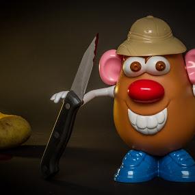 Killer Potato by Arti Fakts - Artistic Objects Toys ( shoes, murder, mouth, blood, mister, artifakts, hat, eyes, toy, ears, potato, smile, dead, killer, nose, knife, , object )