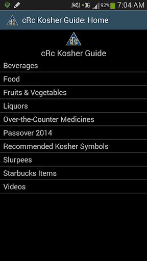 cRc Kosher Guide