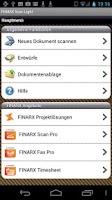 Screenshot of FINARX Scan Light