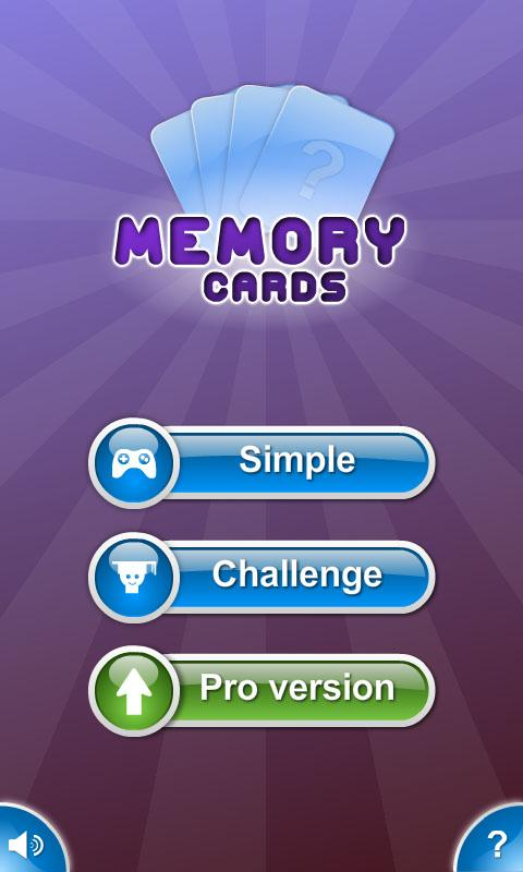 Memory Cards - screenshot
