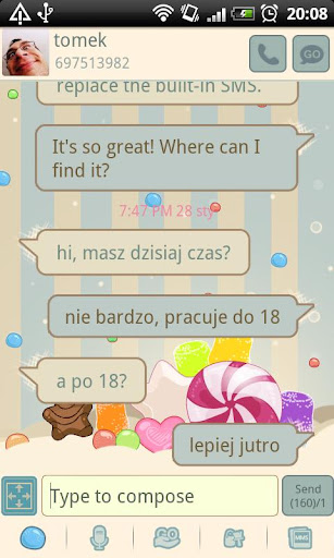 GO SMS Pro Sweets Theme