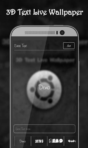 3D Text Live Wallpaper