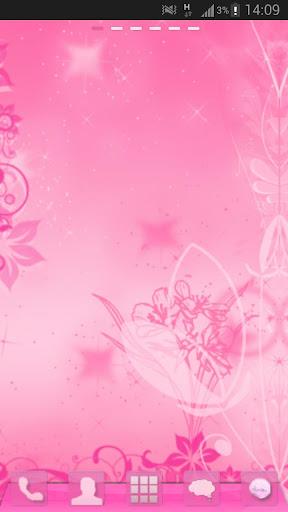 玩免費個人化APP|下載GO Launcher Pink Theme Flowers app不用錢|硬是要APP