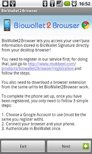 BioWallet2Browser - screenshot thumbnail