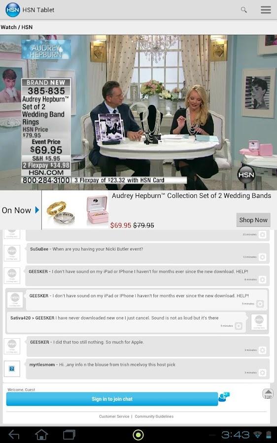 HSN Tablet Shop App - screenshot