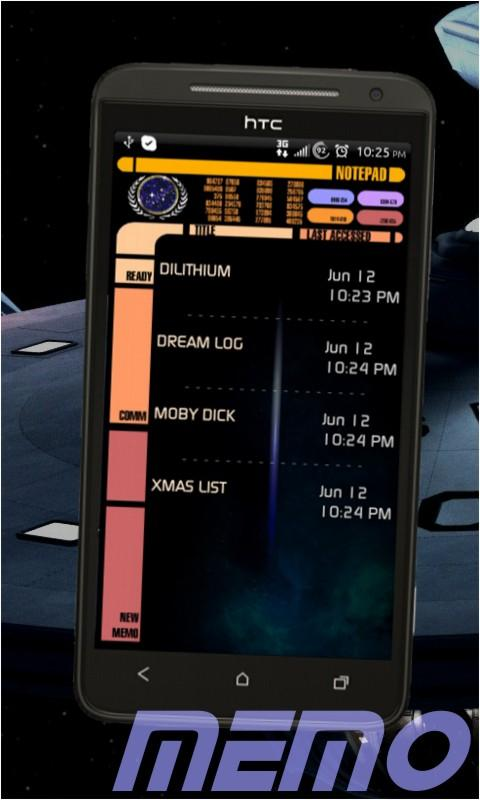 Star Trek ToDo Agenda- screenshot