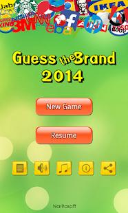 猜牌 2014 - Guess the Brand 2014