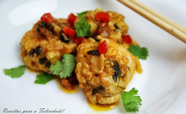Monkfish Cheeks (or Lobster) in a Chili Coriander Sauce Recipe