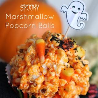 Halloween Marshmallow Popcorn Balls