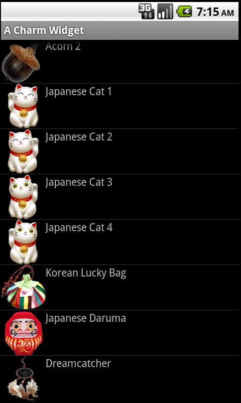 World Lucky Charm Widget - screenshot