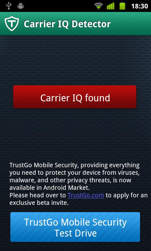 TrustGo Carrier IQ Detector - screenshot