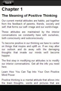 Free Positive Thinking Power - screenshot thumbnail