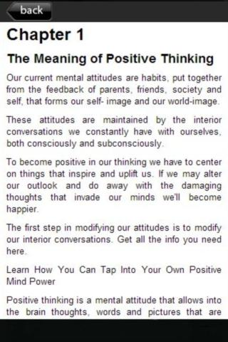 Free Positive Thinking Power - screenshot